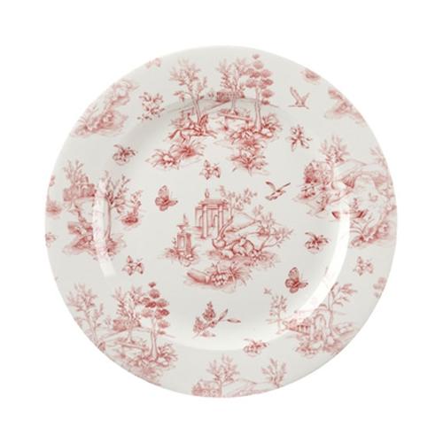 Churchill Vintage Print  Cranberry Toile Plate 12