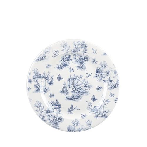 "Churchill Vintage Print  Prague Toile Tea Plate 8.25""  Blue"