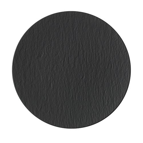 Villeroy & Boch Rock Black Shale Flat Plate 32cm