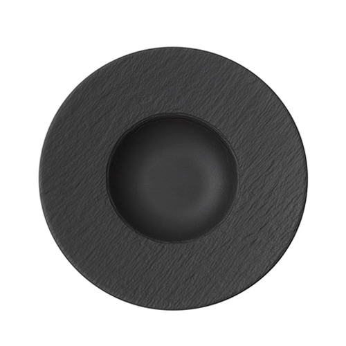 Villeroy & Boch Rock Black Shale Deep Plate 29cm (14cm well)