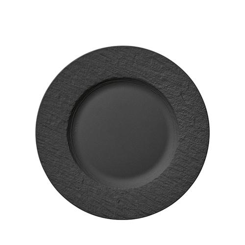 Villeroy & Boch Rock Black Shale Rimmed Flat Plate 27cm