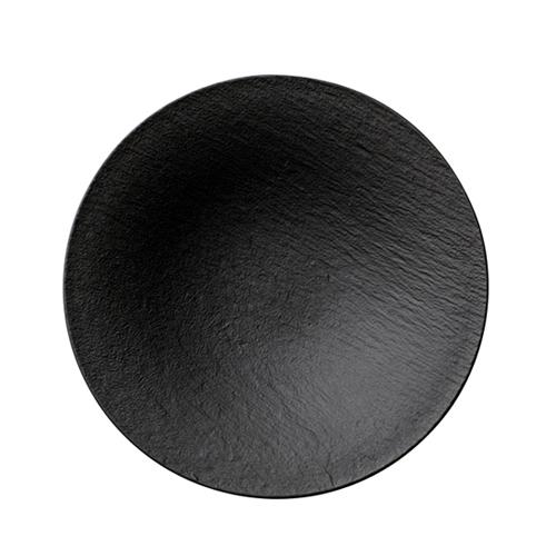 Villeroy & Boch Rock Black Shale Deep Plate Shallow 29cm
