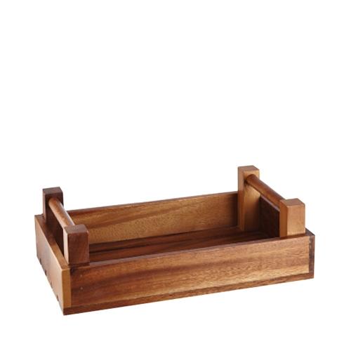 Churchill Buffetscape Acacia Wooden Crate 33cm x 20cm x 10cm Brown