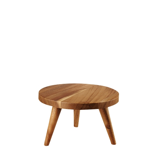 Churchill Round  Wooden Stand Large 25 x 15cm Brown