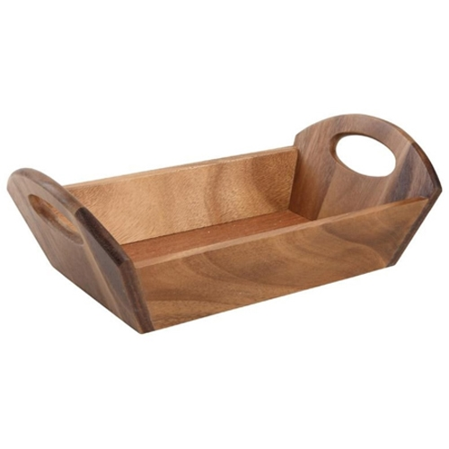 Acacia  Wooden Tray Handled 310x180x98mm