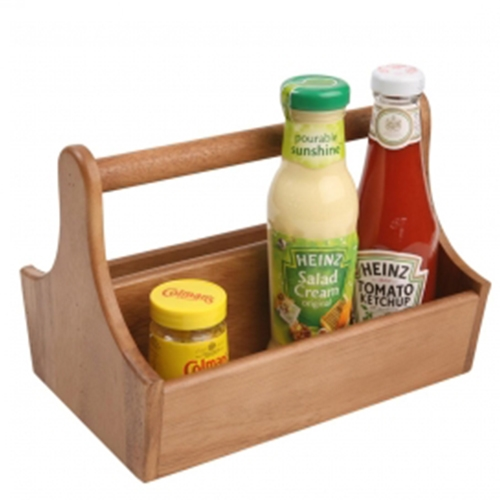 Acacia Condiment Caddy 25x18x8cm Wood