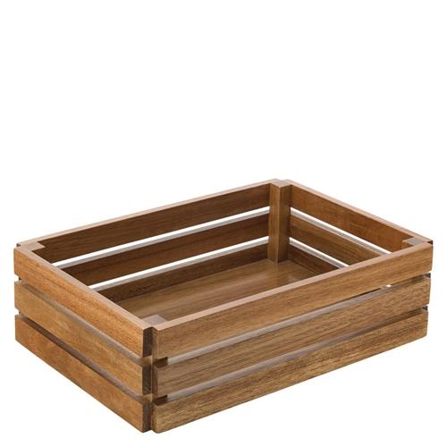 Utopia Acacia  Large Crate 12.5 x 8.5'' Brown