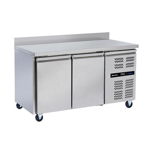 Blizzard 2 Door Counter Freezer LBC2 282Ltr Stainless Steel