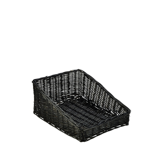 Genware Wicker Display Basket 46cm x 36cm x 20 cm Black