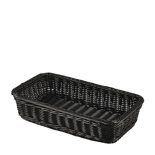 Click to view product details and reviews for Genware Polywicker Display Basket Gn 1 3 Black Each.