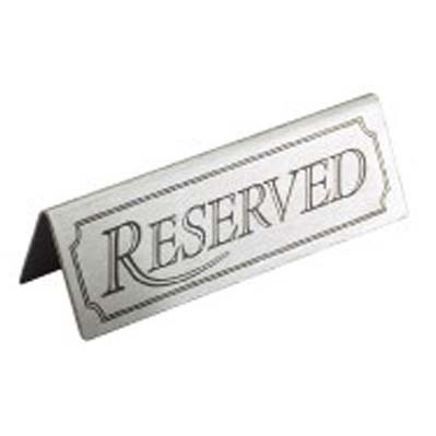 Reserved  Tent Sign Stainless Steel