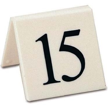 Mileta Table Numbers 21 to 30 Black on white