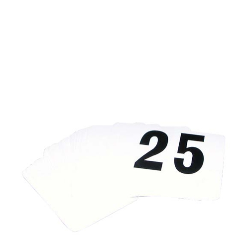Banquet Numbers 1 to 25 PVC White