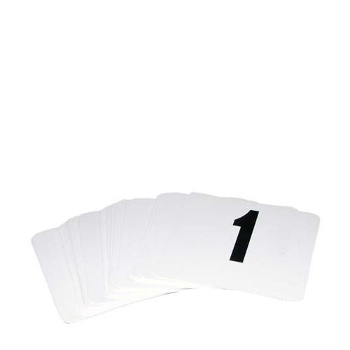 1-50 PVC  Banquet/Table Numbers White