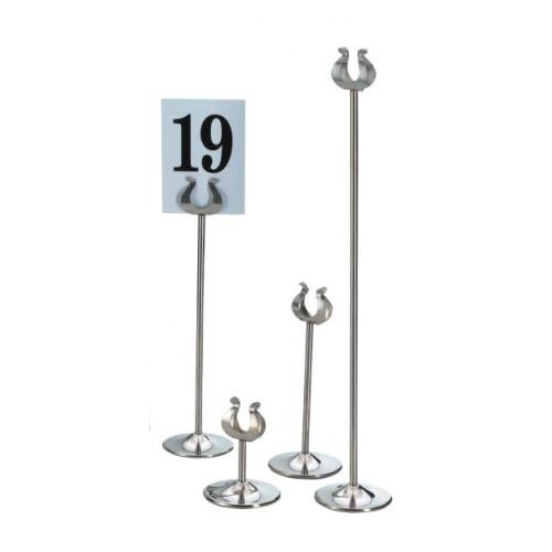 Banquet/Table Number Stainless Steel Stand 45cm Silver