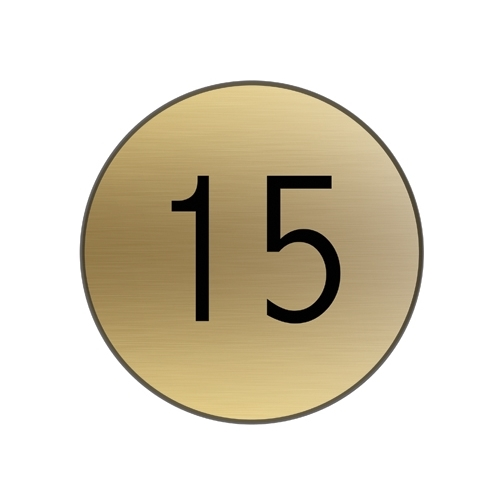 Mileta Engraved 1-10 Table Number Disc 38mm Gold