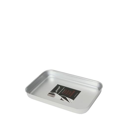 Genware Aluminium Bakewell Pan 315x215x40mm  Silver