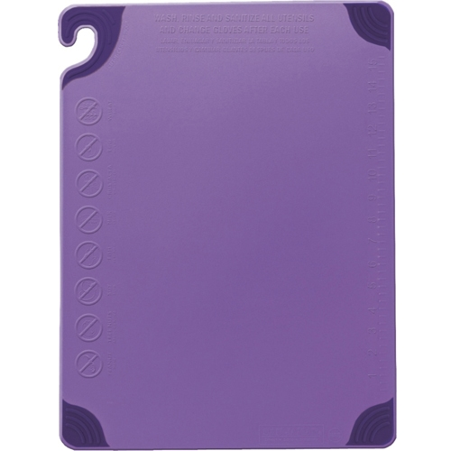"Allergen Saf-T-Zone Chopping Board 12 x 18 x 1/2"" Purple"
