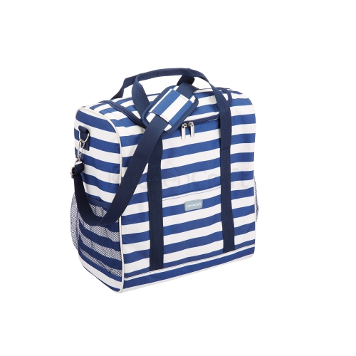 We Love Summer Nautical Large Cool Bag 21 Litres Blue & White