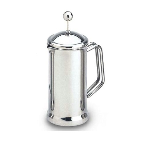 Grunwerg Cafe Stal Mirror Finish Cafetiere 12 Cup Stainless Steel