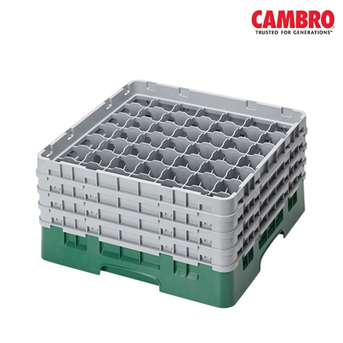Cambro  Camrack 49 Compartment Glass Rack Max. Glass Size H 21.5cm x D 6cm Grey