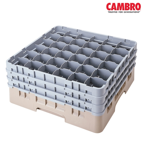 Cambro  Camrack 36 Compartment Glass Rack Max. Glass Size H 25.8cm x D 7.2cm  Grey