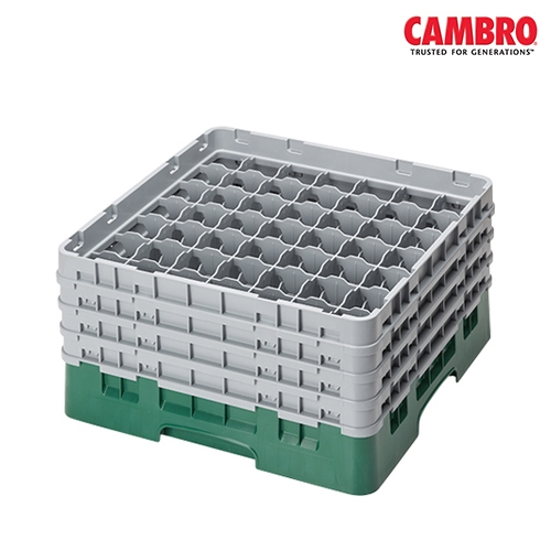 Cambro  Camrack 49 Compartment Glass Rack Max. Glass Size H 25.7cm x D 6cm  Grey