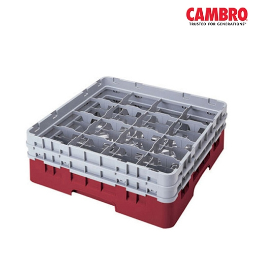 Cambro  Camrack 16 Compartment Glass Rack Max. Glass Size H 19.4cm x  D 10.9cm Grey