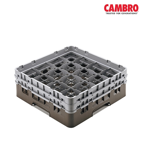 Cambro  Camrack 16 Compartment Glass Rack Max. Glass Size H 21.5cm x  D 10.9cm  Grey
