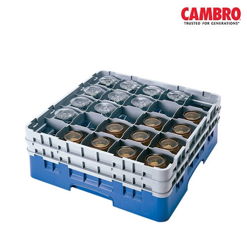 Cambro  Camrack 25 Compartment Glass Rack Max. Glass Size H 13.2cm x D 8.7cm (5.2
