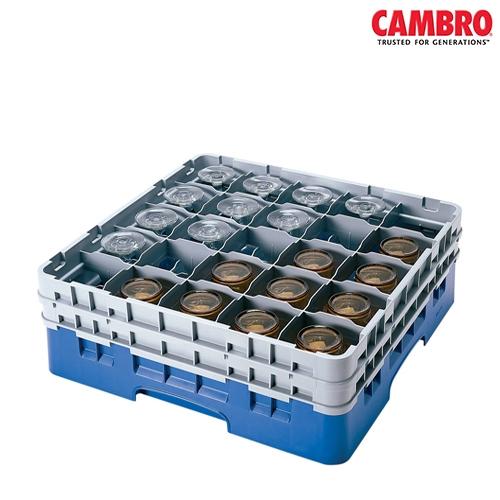 "Cambro  Camrack 25 Compartment Glass Rack Max. Glass Size H 13.2cm x D 8.7cm (5.2"" x 3.4"") Grey"
