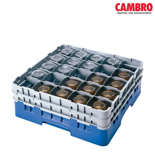 Cambro  Camrack 25 Compartment Glass Rack Max. Glass Size H 21.5cm x D 8.7cm  Grey
