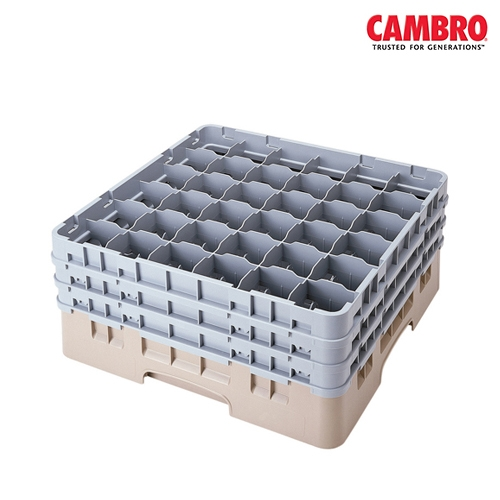 Cambro  Camrack 36 Compartment Glass Rack Max. Glass Size H 19.6cm x D 7.2cm Grey