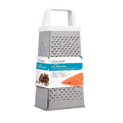 Stainless Steel Cheese Grater 4 Way 18cm Silver