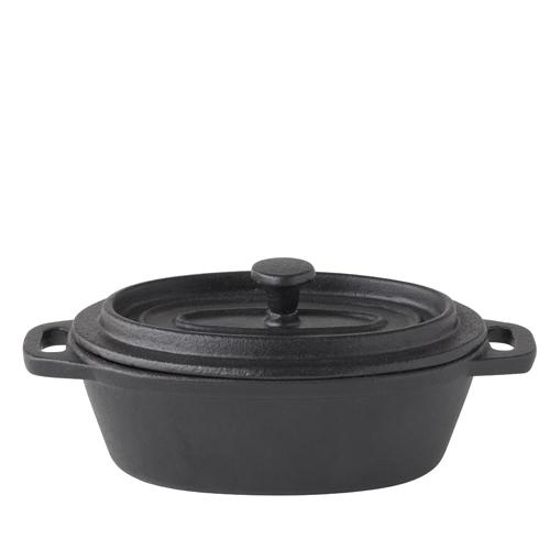 Utopia Cast Iron Oval Casserole Dish 12.5 x 9cm (5 x 3.5