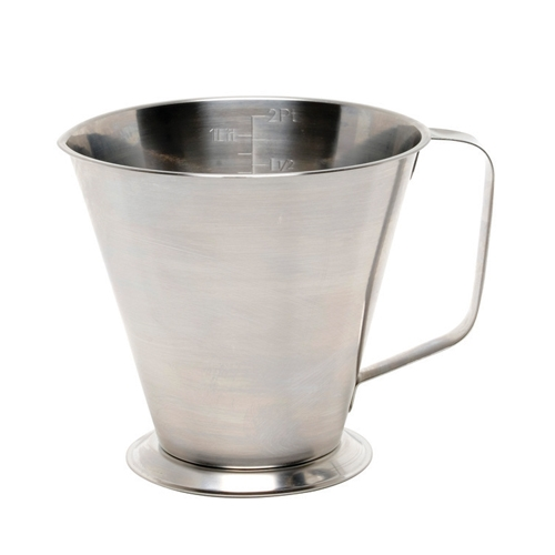 Stainless Steel Graduated Measuring Jug 1Ltr Silver