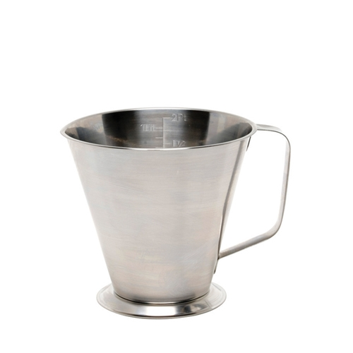 Stainless Steel Graduated Measuring Jug 0.5Ltr Silver