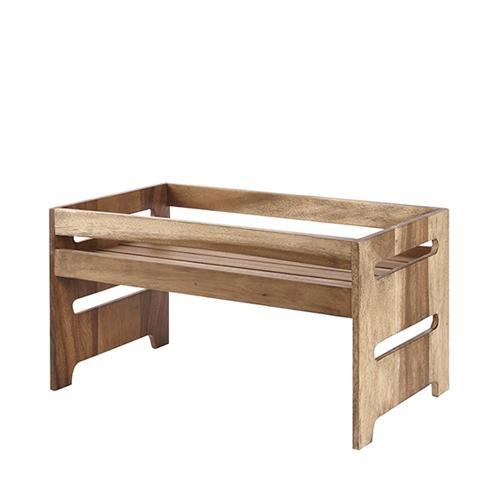 Churchill Wood  Nesting Riser 44.5cm x 25.8cm x 23.5cm Brown