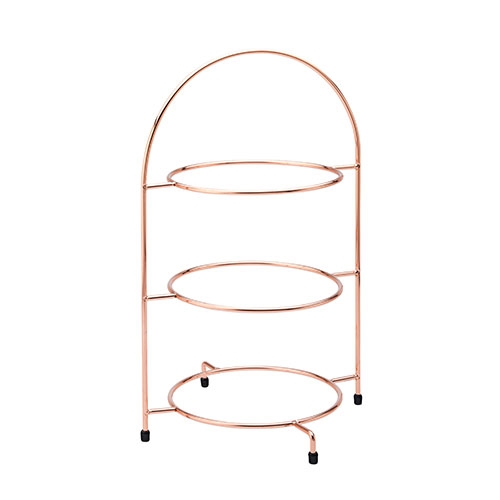 "Utopia 3 Tier Cake Plate Stand 17"" (43cm) Copper"