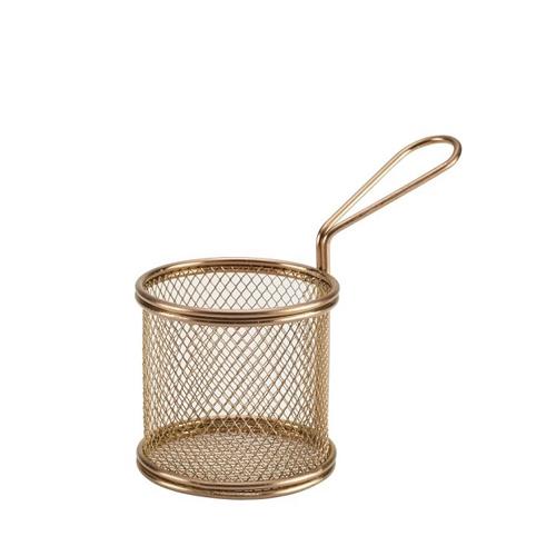 Copper Wire Mini Round Basket 9.3 x 9cm
