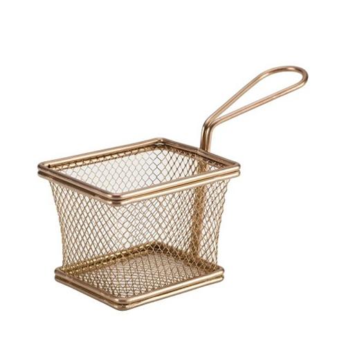 Copper Wire Mini Rectangular Basket 12.5x10x8.5cm