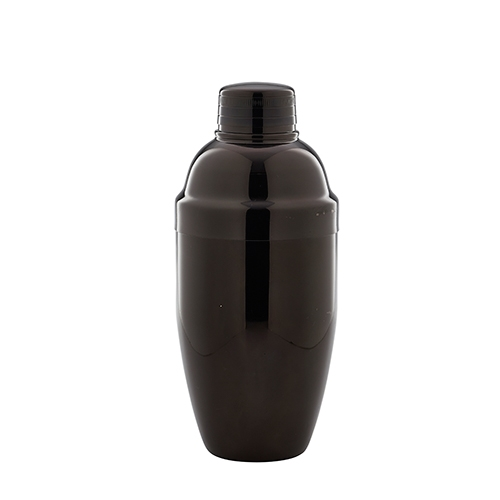 Genware Gun Metal  3 Piece Cocktail Shaker 17.5oz Gun Metal Black