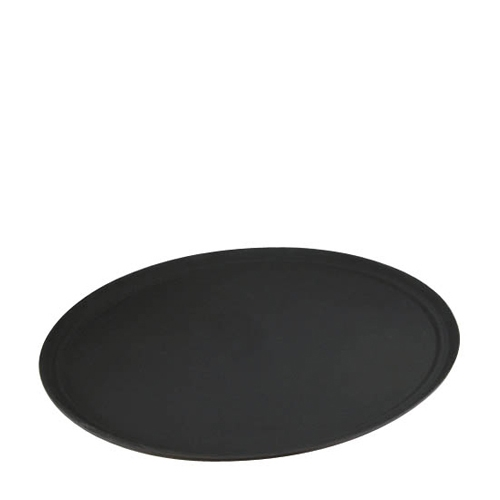 Non-Slip  Oval Tread Tray 68x56cm Black
