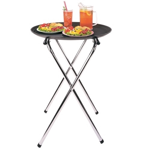 "Stainless Steel Tray Stand 31"" Silver"