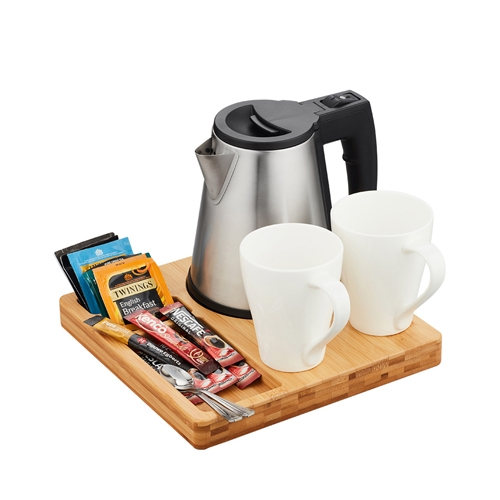 Bamboo Welcome Tray & Kettle 0.5ltr