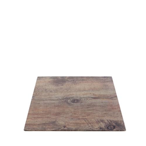 Steelite Melamine Driftwood Square Board 25.4cm x 1.5cm Brown