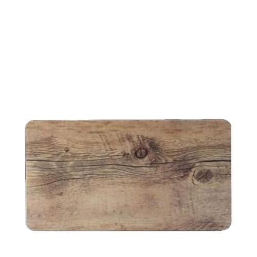 Steelite Melamine Driftwood  Rectangular Platter GN 1/3 Brown