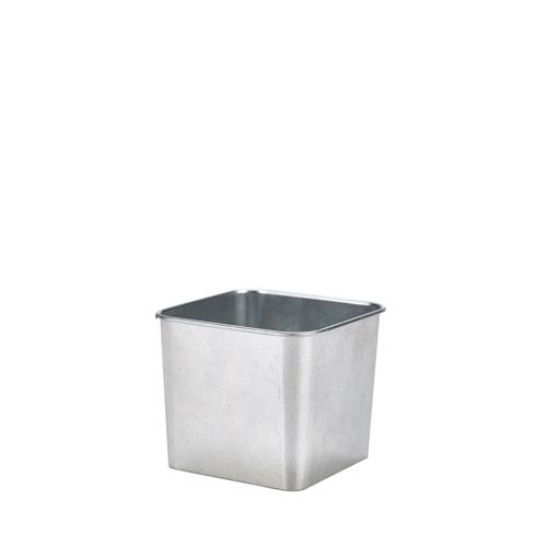 Galvanised Steel Square ServingTub 8x7cm Silver