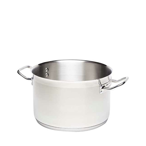 Genware Stainless Steel Stockpot 8Ltr Silver
