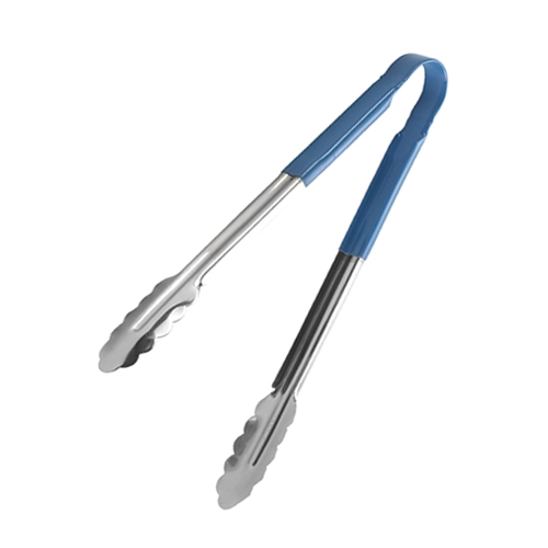 Tablecraft Vinyl Coated Utility Tongs Blue Handle 305mm